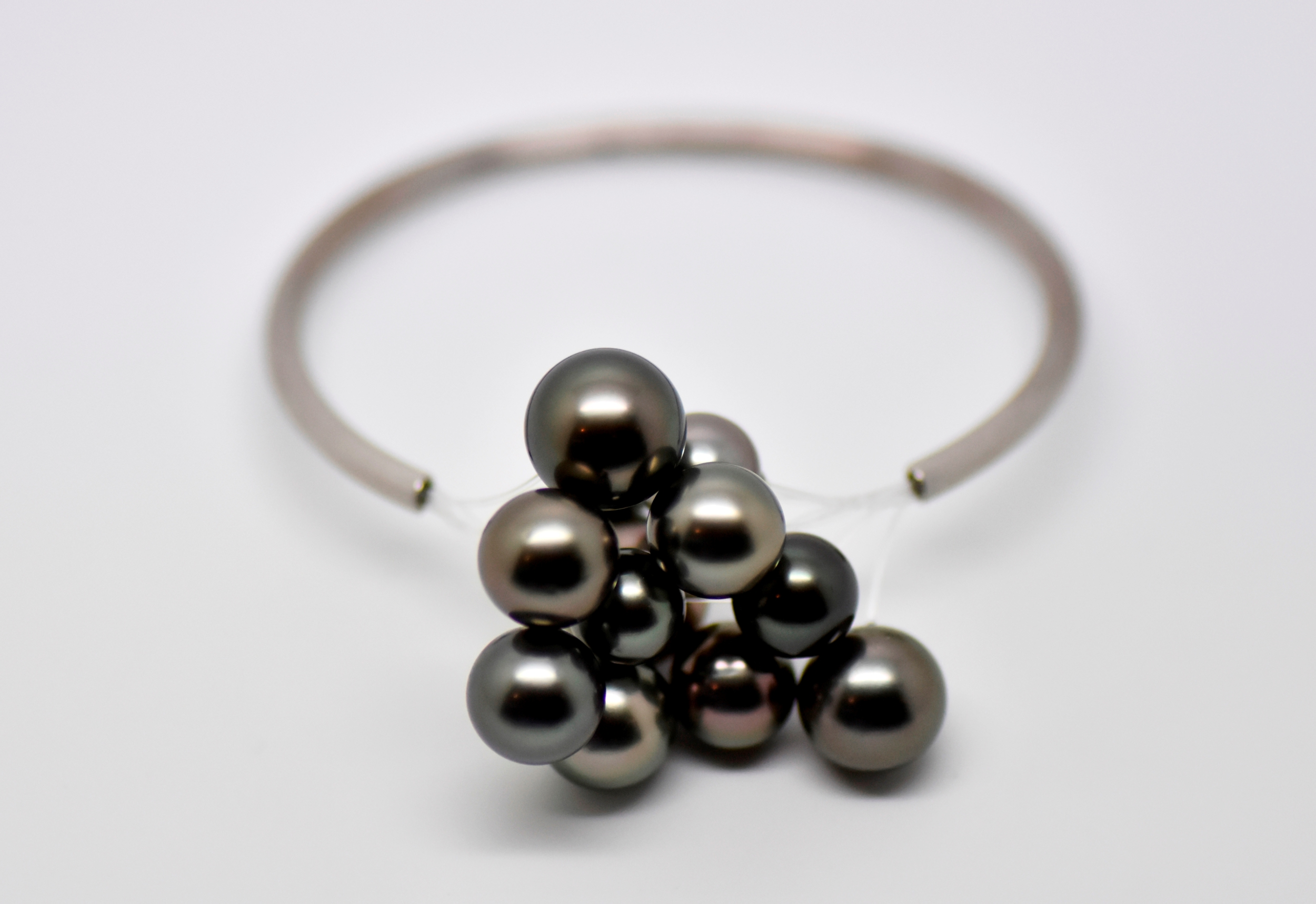 Bracelet BLACK CLOUD or blanc 12 perles de Tahiti