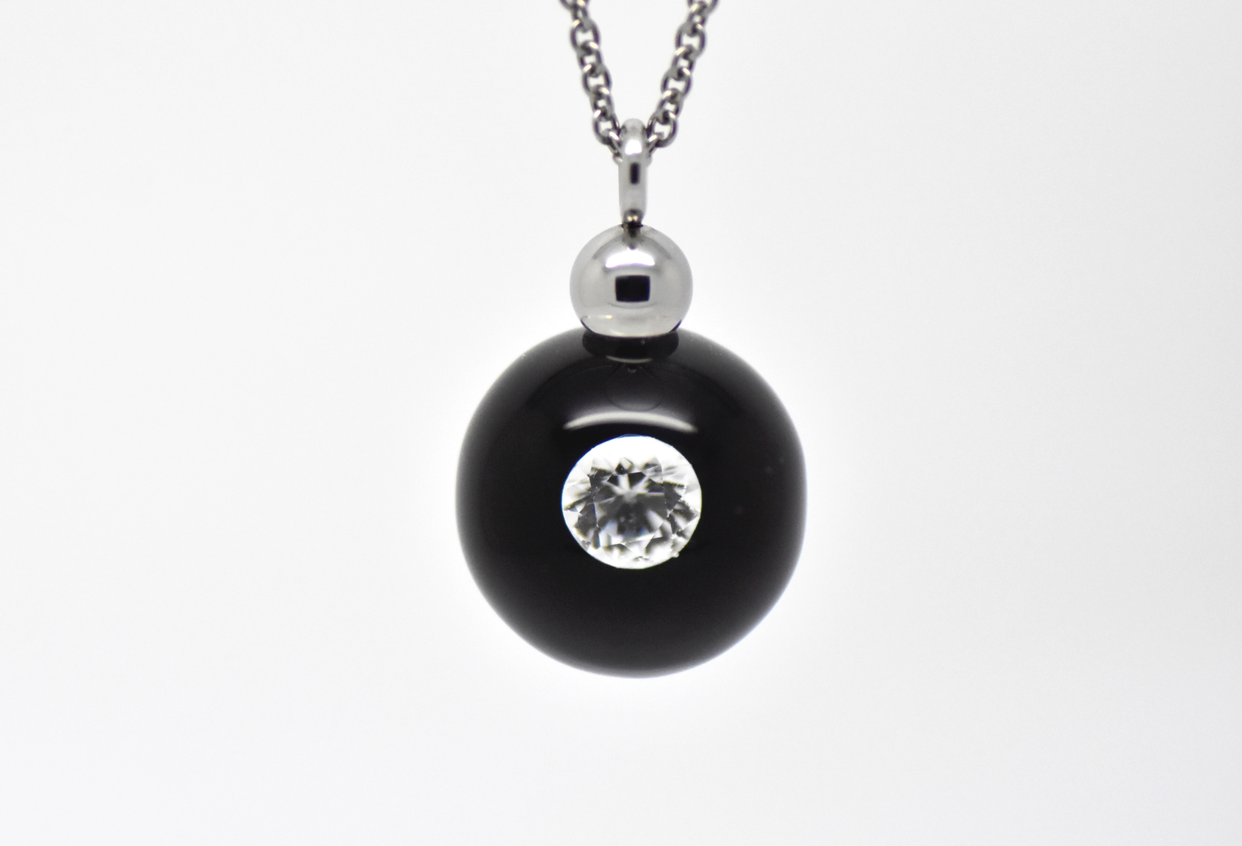 Collier Diamond in Glass perle de 16 mm