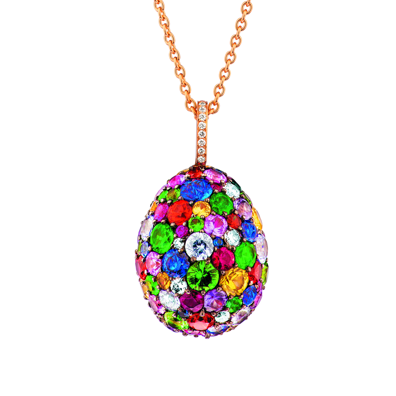 Pendentif oeuf Fabergé collection EMOTION multicolor