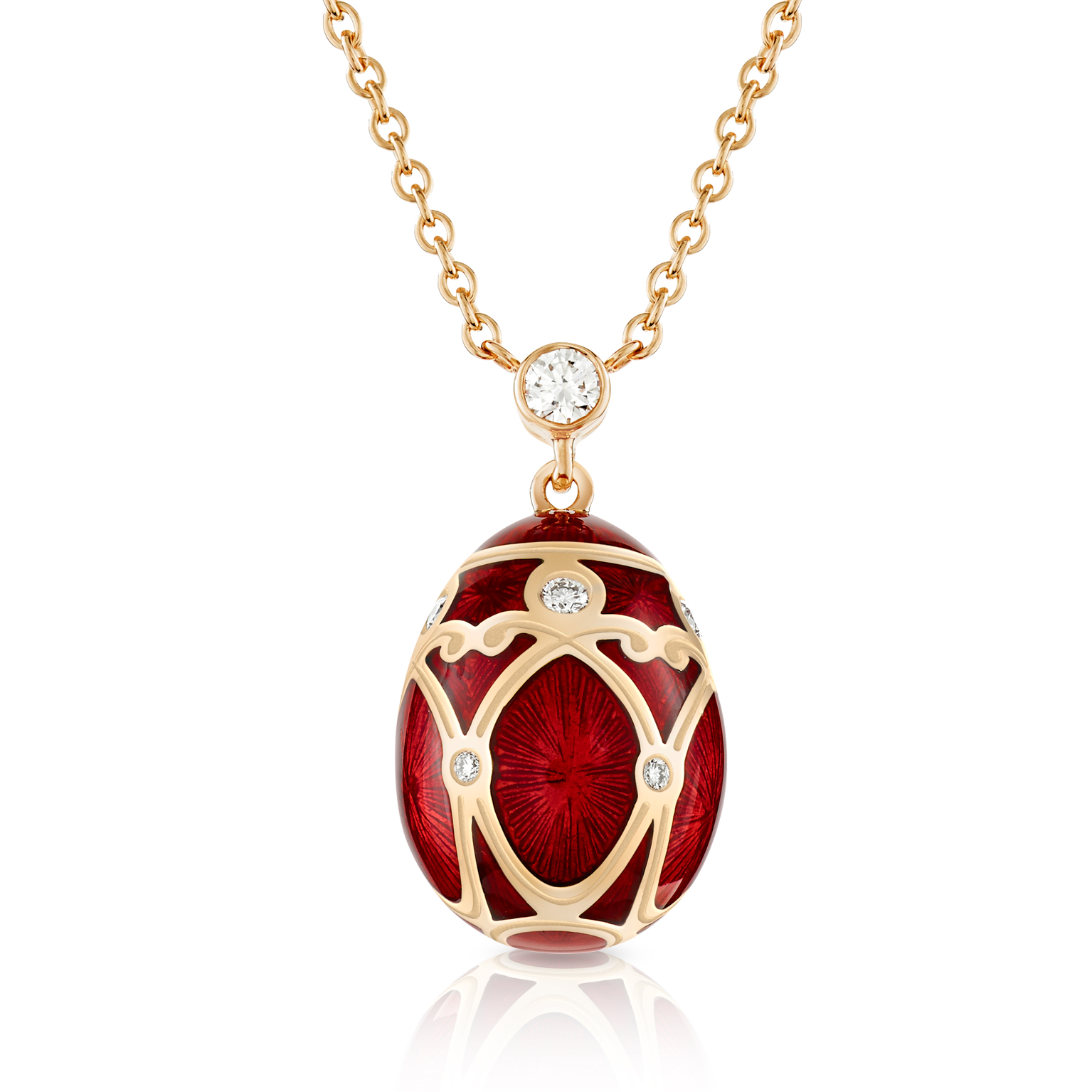 COLLECTION HERITAGE PALAIS YELAGIN ROUGE PETIT PENDENTIF OEUF FABERGÉ