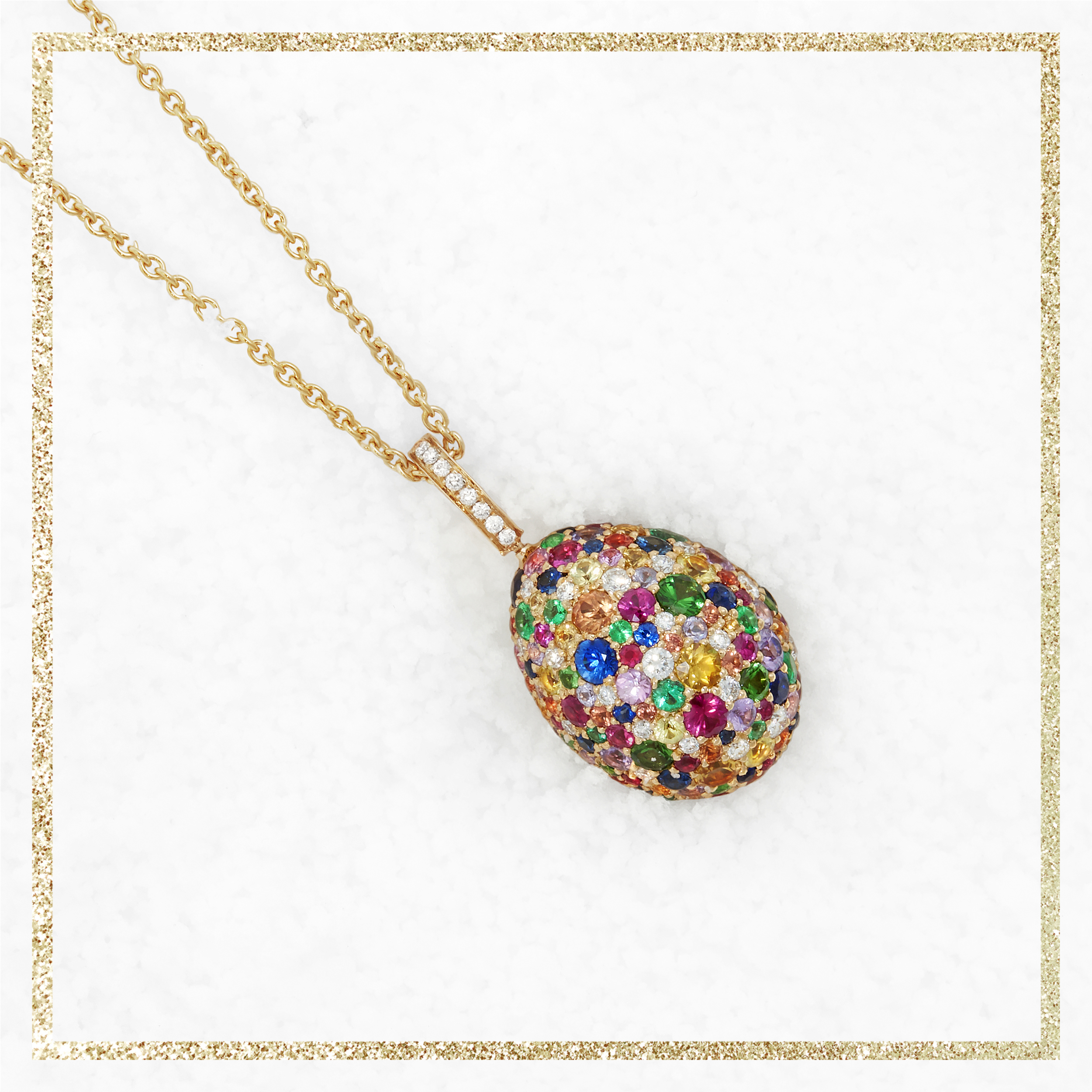 COLLECTION EMOTION MULTICOLOR PENDENTIF OEUF FABERGÉ