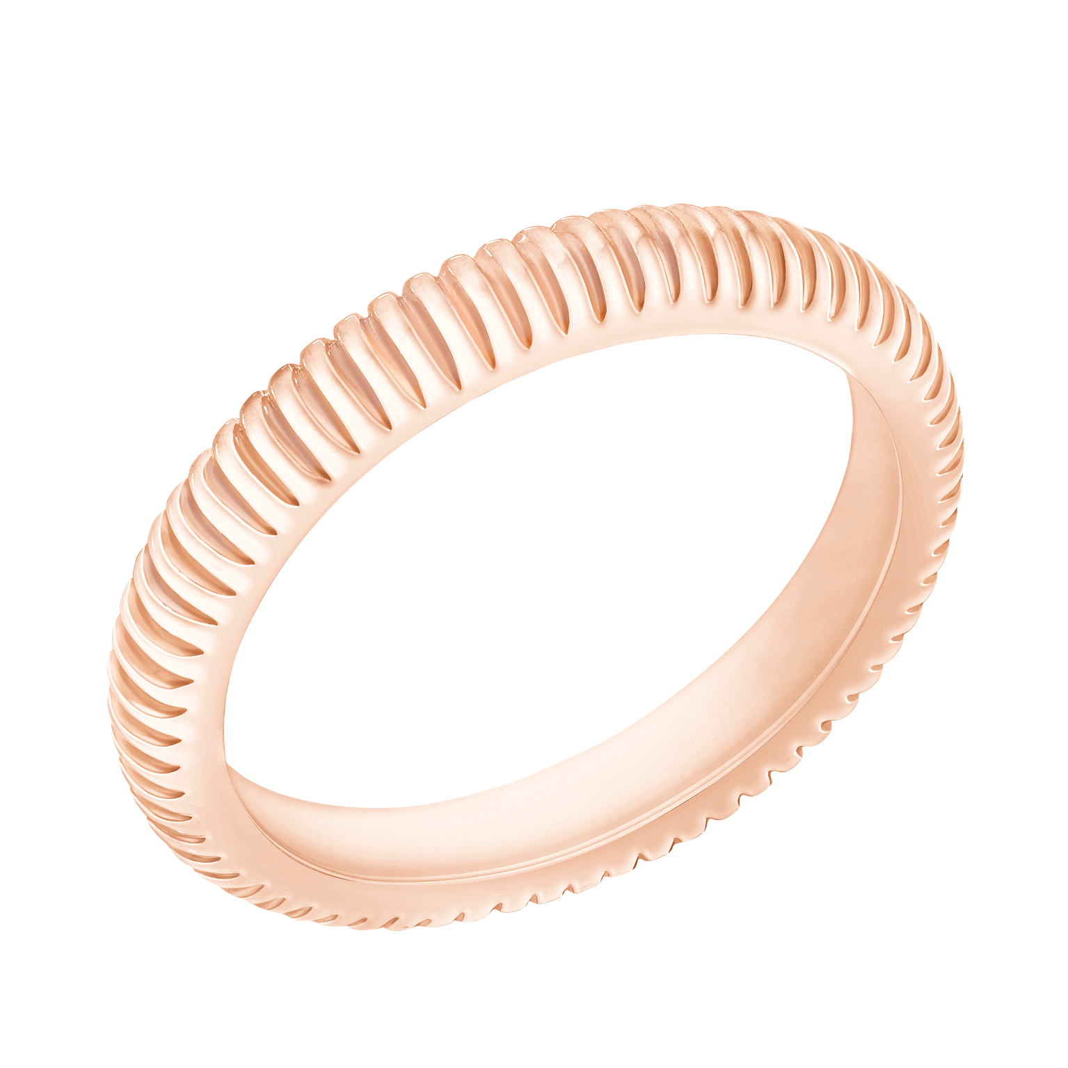 COLLECTION THREE COLOURS OF LOVE BAGUE CANNELÉE OR ROSE