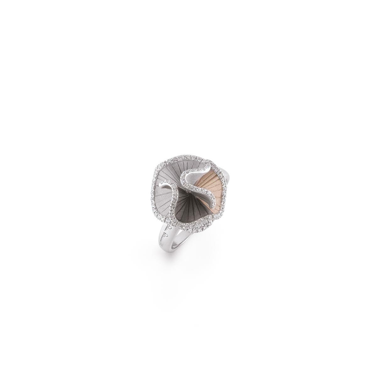 Bague SULTANA petit modèle 3 ors et diamants