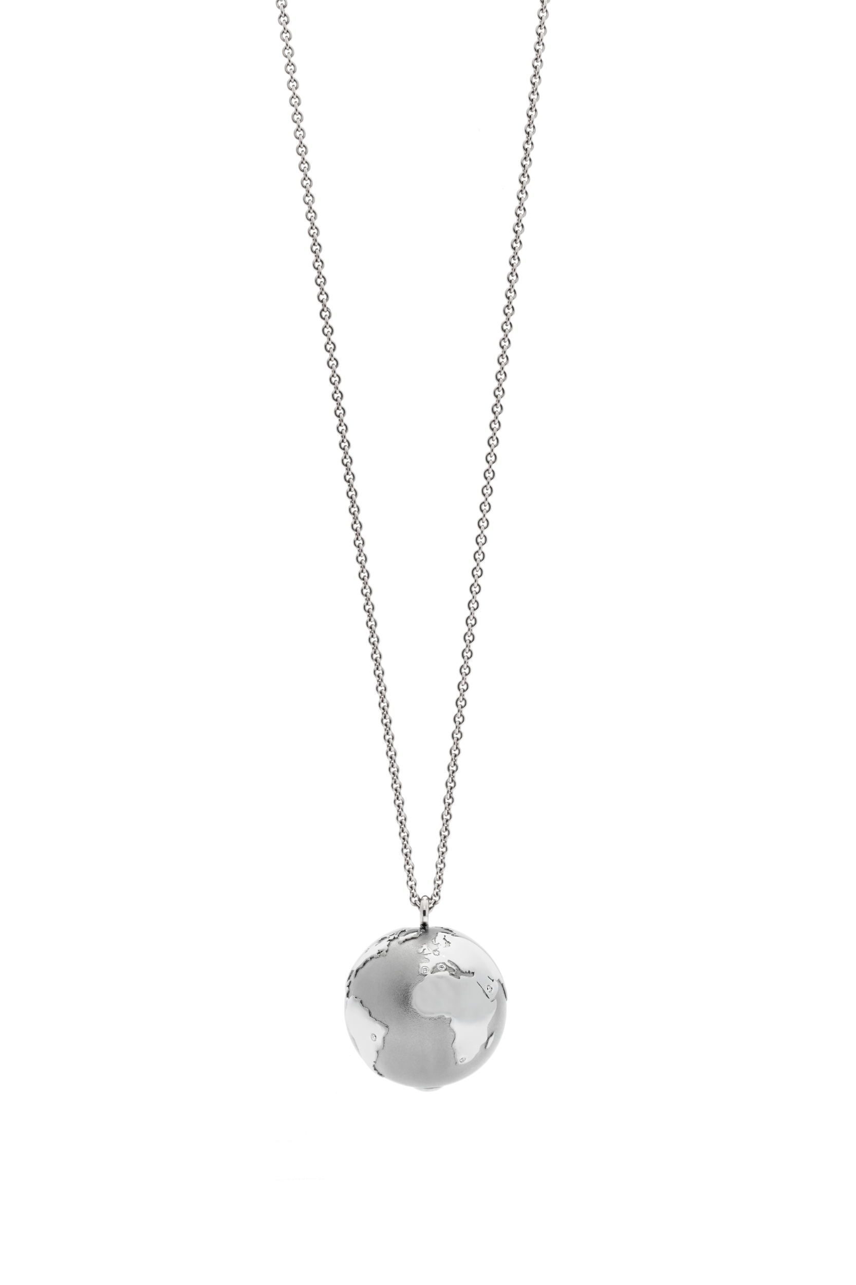 Collier MY WORLD 23 mm platine chaine 90 cm