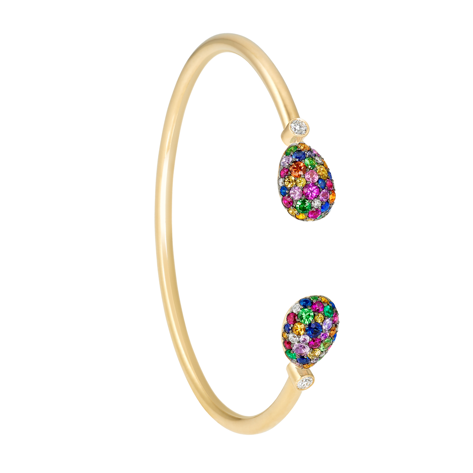 COLLECTION EMOTIION MULTICOLORE JONC OUVERT OEUF FABERGÉ TAILLE SMALL