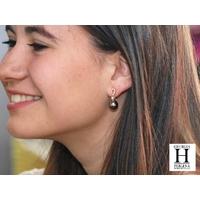 Boucles d'oreilles Brillants or et perles de tahiti (7)