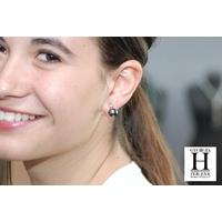 Boucles d'oreilles Solitaires or blanc et perles de tahiti (6)