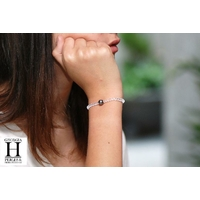 Bracelet Cristaux et perle de tahiti (3)