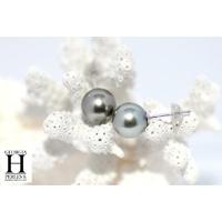 Boucles d'oreilles Boutons perles de tahiti Pistache