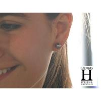 Boucles d'oreilles Boutons et perles de tahiti  (5)