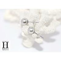 Boucles d'oreilles Boutons perles de tahiti neige