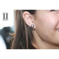 Boucles d'oreilles Boutons perles de tahiti  (5)