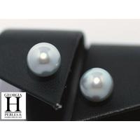 Boucles d'oreilles Boutons perles de tahiti   (2)