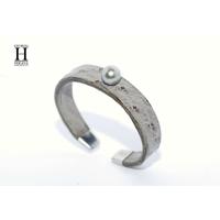 Bracelet Africa autruche grise et perle de tahiti