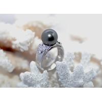 Bague diamants et perle de tahiti