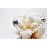 "Bracelet ""Manhattan"" perles swarovski et perle de Tahiti"