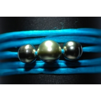 Bracelet Ibiza turquoise avec perles de tahiti