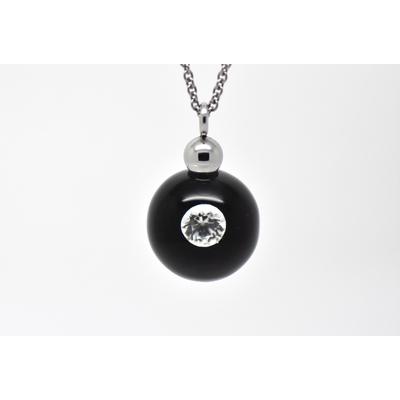 "Collier ""Diamond in Glass"" perle de 16 mm"
