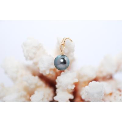 Pendentif perle de tahiti queue de paon