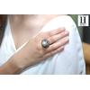 Bague Saphirs , brillants, tsavorites  et perle de tahiti (3)