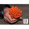 Ponpon Orange et perle de tahiti (7)