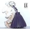 Ponpon Violet et perle de tahiti