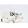Boucles doreilles Boutons perles de tahiti Pistache (4)
