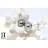 Boucles d'oreilles Boutons perles de tahiti Pistache (5)