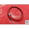 Bracelet Africa galuchat rouge et perles de tahiti (3)