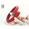 Bracelet Africa galuchat rouge et perles de tahiti (6)
