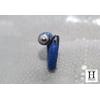 Bague cuir de raie galuchat bleu et perle de tahiti (4)