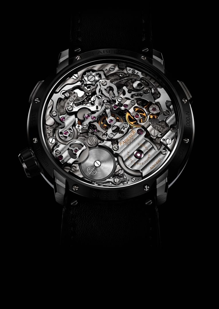 Fabergé Visionnaire Chronograph Black - Case Back