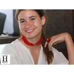 Bracelet manchette soie rouge et perle de tahiti (3)