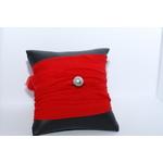 Bracelet manchette soie rouge et perle de tahiti (6)