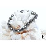 Bracelet Princesse  perles de tahiti Pinky Almond Green (7)