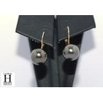 Boucles doreilles Dormeuses or et perles de tahiti (4)