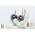 Boucles doreilles Dormeuses or et perles de tahiti (7)