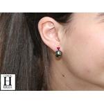 Boucles doreilles Solitaires rubis et perles de tahiti