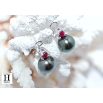 Boucles doreilles Solitaires rubis et perles de tahiti (6)