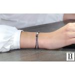 Bracelet Marrakech noir avec perle de tahiti sable doré (5)