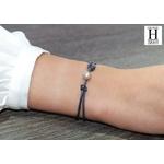 Bracelet Marrakech noir avec perle de tahiti sable doré (6)