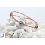 Bracelet Marrakech naturel avec une perle de tahiti (2)