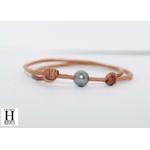 Bracelet Marrakech naturel avec une perle de tahiti (3)