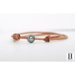 Bracelet Marrakech naturel avec une perle de tahiti (4)