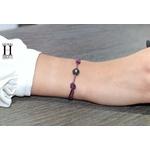 Bracelet Marrakech violet avec une perle de tahiti (2)