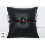 Bracelet Marrakech violet avec une perle de tahiti