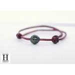 Bracelet Marrakech violet avec une perle de tahiti (3)