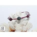 Bracelet Marrakech violet avec une perle de tahiti (4)
