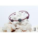Bracelet Marrakech violet avec une perle de tahiti (5)