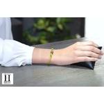 Bracelet Marrakech anis avec une perle de tahiti